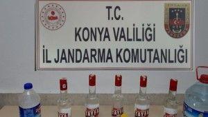 Konya'da sahte alkol ele geçirildi
