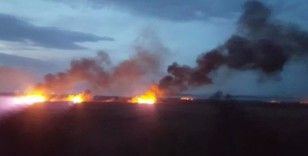 Bursa'daki sazlık yangını devam ediyor