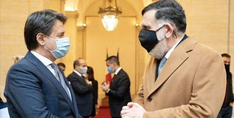 İtalya Başbakanı Conte, Libya Başbakanı Serrac ile bir araya geldi