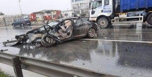 Arnavutköy'de feci kaza: 2 yaralı