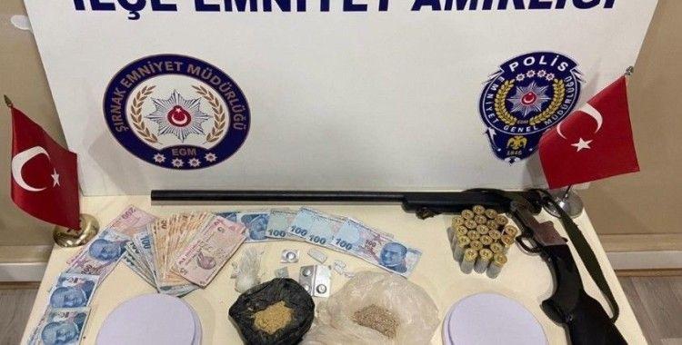 Şırnak'ta uyuşturucu ve kaçakçılık operasyonu: 60 gözaltı