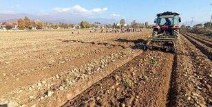 Yağışlı hava patates ekimlerini hızlandırdı