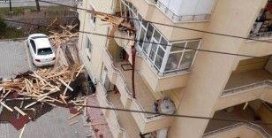 Tokat'ta şiddetli rüzgar ortalığı savaş alanına çevirdi