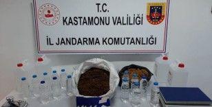 Jandarma ekiplerinden sahte alkol operasyonu