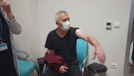 Kastamonu'da sağlık personellerine ilk Kovid-19 aşısı yapıldı