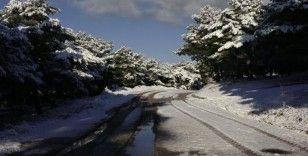 Çanakkale'de kartpostallık kar manzaraları
