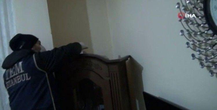 İstanbul'da PKK/YPG'li 8 şüphelinin yakalandığı operasyon kamerada
