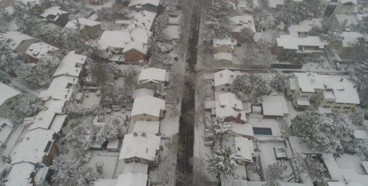 Beyaz gelinliğini giyen Beşiktaş havadan görüntülendi