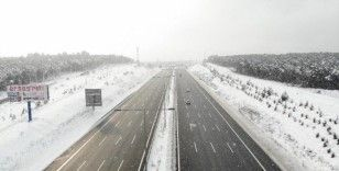 İstanbul'da lapa lapa kar yağışı havadan böyle görüntülendi