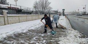 Yenişehir'de kar seferberliği