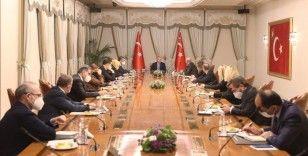 Cumhurbaşkanı Erdoğan, Darüşşafaka Yönetim Kurulu Başkanı Öktem ve beraberindekileri kabul etti