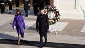 Biden, Arlington Ulusal Mezarlığı'na çelenk bıraktı
