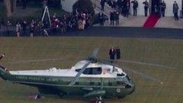 Trump, Beyaz Saray'a veda etti