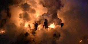 Gümüşhane'de tek katlı evin çatı katında korkutan yangın