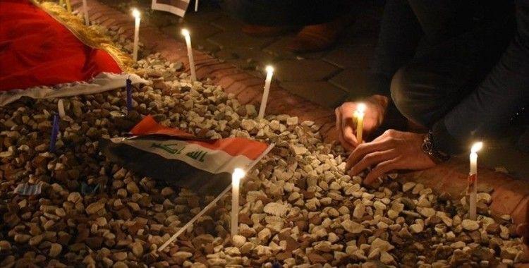 Kerkük'te düzenlenen gösteride Bağdat'taki terör saldırısı kınandı
