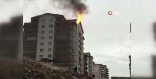 Başkent'te apartman dairesinde yangın