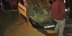 Elazığ'da ilginç kaza anı kameralara yansıdı