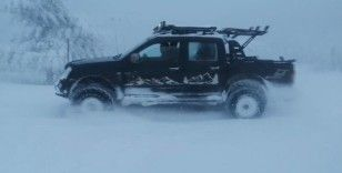 Off Road'çılar Ulus Dağı'nda karda macerayı yaşadı