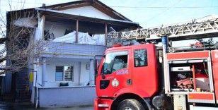 Engelli vatandaşın evinde yangın çıktı