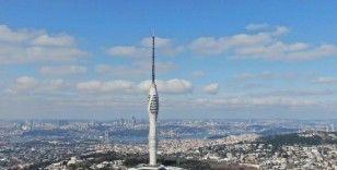Çamlıca Kulesi'nin son hali havadan görüntülendi