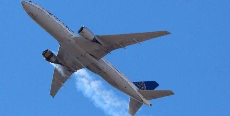 ABD'de motoru alev alan yolcu uçağının parçaları evlerin üzerine düştü