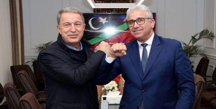 Hulusi Akar, konvoyu saldırıya uğrayan Libya İçişleri Bakanı ile görüştü
