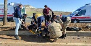 Şanlıurfa'da otomobil ağaca çarptı: 2 yaralı