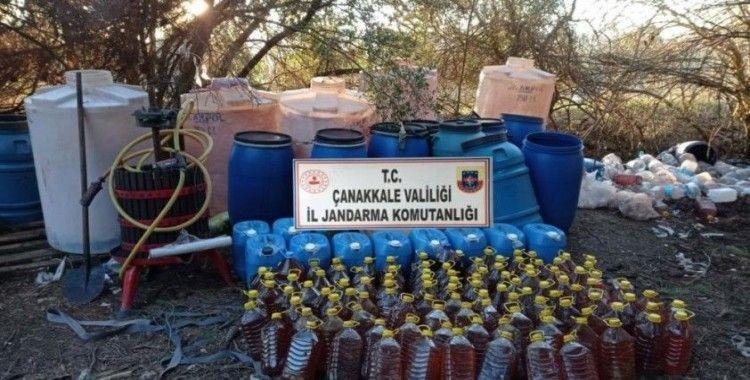 Çanakkale'de kaçak içki operasyonu: 2 gözaltı