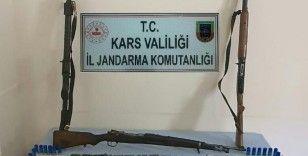 Kars'ta ruhsatsız silah operasyonu