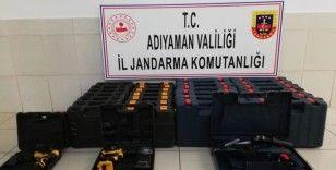Adıyaman'da faturasız 30 adet matkap ele geçirildi
