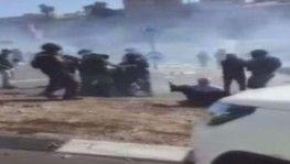 İsrail polisinden şiddet olaylarını protesto eden Filistinlilere müdahale