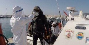 Çanakkale açıklarında 33 düzensiz göçmen kurtarıldı