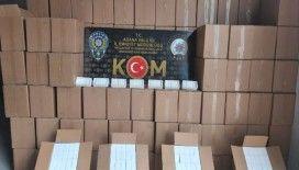 Adana'da 15 milyon 350 bin makaron ele geçirildi