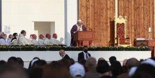 Papa Erbil'deki Franso Hariri Stadyumu'nda ayine katıldı