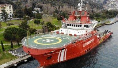Türkiye'nin ilk acil müdahale gemisi 'Nene Hatun' havadan görüntülendi