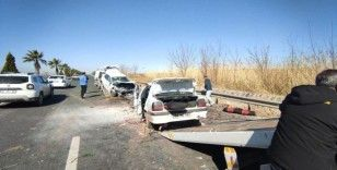 Şanlıurfa'da otomobiller kafa kafaya çarpıştı: 6 yaralı