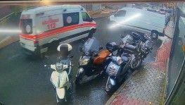 İstanbul'da ambulans ile minibüsün çarpıştığı kaza kamerada