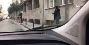 Şişli'de değnekçi suç üstü yakalandı