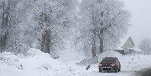 Domaniç Dağları'nda kar yağışı etkili oluyor
