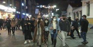 Taksim'deki manzara, kısıtlama sonrası da değişmedi