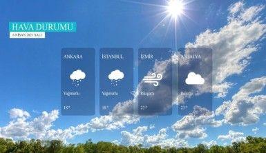 Yarın kara ve denizlerimizde hava nasıl olacak? 6 Nisan 2021 Salı