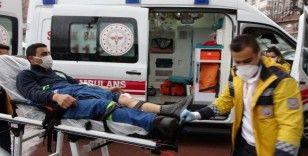 Metal fabrikasındaki iş kazası: 1 yaralı