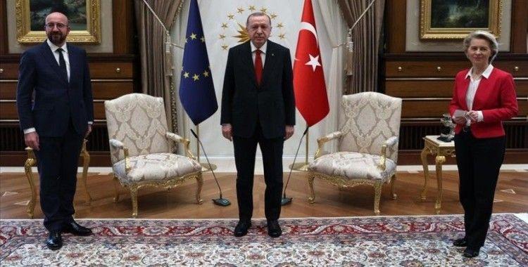 Cumhurbaşkanı Erdoğan, AB Başkanlarını kabul etti