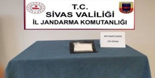 Jandarma ekipleri, 120 gram meteamfetamin ele geçirdi