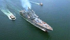 Rus 'Mareşal Şapoşnikov' fırkateyni, Kalibr füzesini başarılı bir şekilde test etti