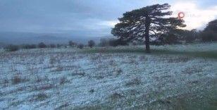Kazdağları'nda kar sürprizi