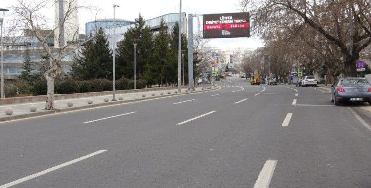 Başkentte pandemi kısıtlamalarıyla beraber sokaklar yine boş kaldı