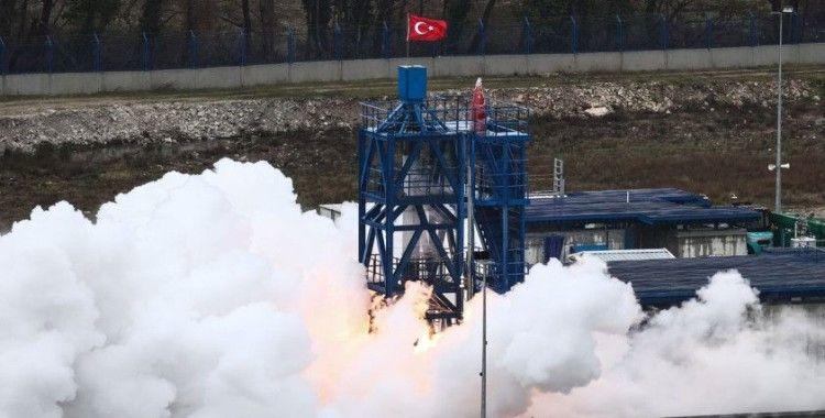 Hibrit roket motoru ilk sınavı geçti