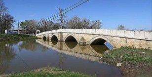 Edirne'de geçen hafta 'sarı alarm' verilen Tunca Nehri'nin debisi düşüşe geçti