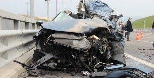 Kuzey Marmara Otoyolu'nda ölümle sonuçlanan feci kaza
